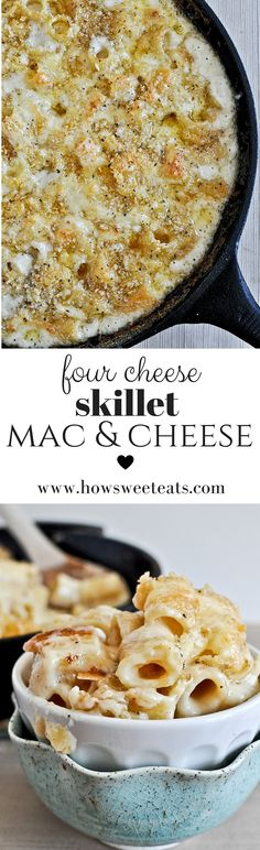 Four Cheese Mac and Cheese! I howsweeteats.com @howsweeteats