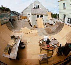 Tony Campos' Epic Backyard Skate Ramp. San Francisco, CA