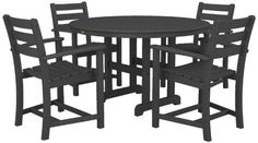 Trex Outdoor Furniture by Polywood 5-Piece Monterey Bay Dining Set, Stepping Stone by Trex Outdoor Furniture by Polywood. $1523.72. Set includes four txd200 monterey bay dining arm chairs and a txrt248 monterey bay round 48-inch dining table. Made in the usa. Durable HDPE lumber gives the look of painted wood without the maintenance. HDPE lumber will not crack, chip, peel, splinter, or absorb moisture. Trex outdoor furniture resists most environmental stresses including stains, ...