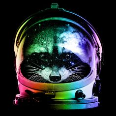 astronaut raccoon is a T Shirt designed by clingcling to illustrate your life and is available at Design By Humans