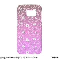 pretty abstract flowers pink white samsung galaxy s7 case