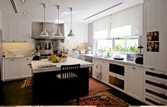 Sunset Square | Habitus Living - warm greys with a white and dark kitchen