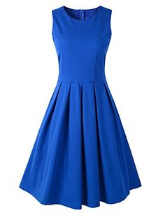 1950s Style Party Evening Rockabilly Swing Dress US10 Blue *** Want to know more, click on the image.