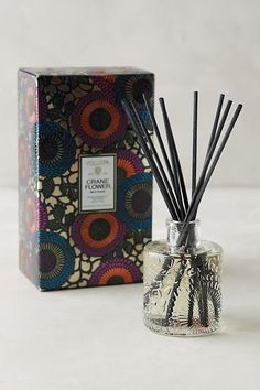 Voluspa Limited Edition Japonica Reed Diffuser by in Gold Size: Assorted, Fragrance at Anthropologie Dried Goji Berries, Bird Barn, Barn Owls, Birds Of Paradise Flower, Home Candles, Stone Fruit, Holly Berries, White Lilies, Home Fragrances