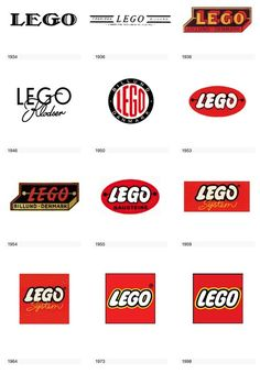 Evolution of the Lego #Logo