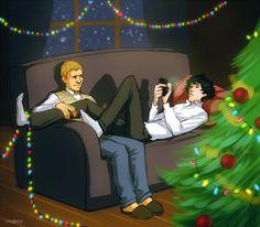 Because I am in a christmas mood. Merry christmas Sherlock - sherlock-and-john Fan Art