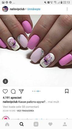 Stylish Nails, Trendy Nails, Cute Nails, Best Nail Art Designs, Colorful Nail Designs, Purple Nails, Bling Nails, Gel Nail Art, Nail Manicure
