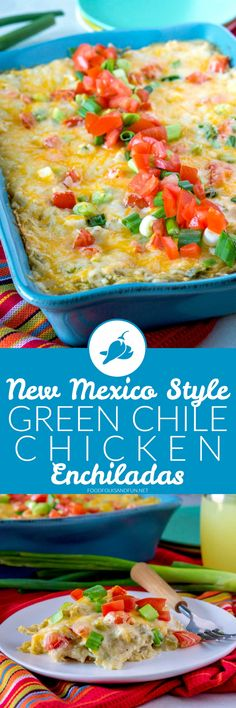 This is my favorite Green Chile Chicken Enchiladas recipe out there, and everyone who tastes them agrees! #greenchile #enchiladas #dinner #recipe #NewMexicanFood #NewMexico