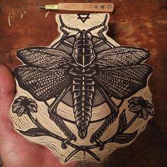 prepare illustration for lino cut Linocut Prints, Art Prints, Block Prints, Organic Art, Desenho Tattoo, Leaf Art, Woodblock Print, Art Sketchbook, Printmaking