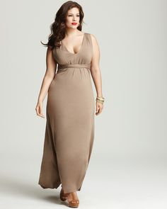 Rachel Pally White Label Plus Size Athena Tie Waist Maxi Dress $197.40