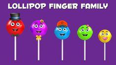 The Finger Family Lollipop Family Nursery Rhyme | Lollipop Finger Family Songs