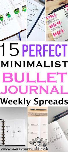 Amazing minimalist bullet journal layout ideas for your next BuJo weekly spread. #bulletjournal #journal #minimalist #bujojunkies #bulletjournaljunkies #planning #bestplanner