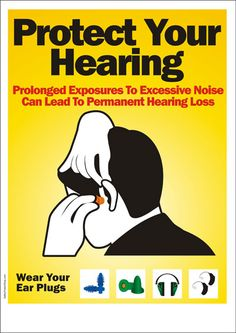 Remember to wear ear plugs in noisy environments with these posters
