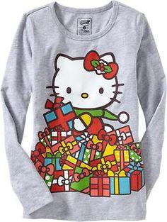 Girls Hello Kitty® Holiday Tees   Old Navy