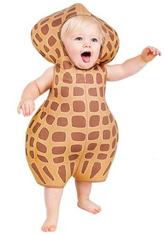 Even people with peanut allergies are going to fall in love with this Infant Peanut Costume. This adorable costume makes a great peanut and elephant duo!