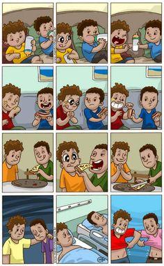 Amizade verdadeira é isso aí.