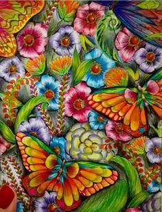 Inspirational Coloring Pages by @sandrabetinassi #inspiração #coloringbooks #livrosdecolorir #jardimsecreto #secretgarden #florestaencantada #enchantedforest #reinoanimal #animalkingdom #adultcoloring #johannabasford #milliemarotta #flowers #tropicalwonderland