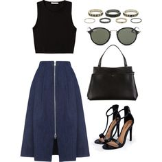Untitled #1948 by dceee on Polyvore featuring Pieces, Whistles, Boohoo, CÉLINE, Kardashian Kollection and Ray-Ban