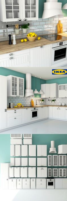 кухня ИКЕА СТОТ ФАКТУМ (IKEA STAT FAKTUM) Kitchen Cabinet Colors, Kitchen Cabinetry, Kitchen Sets, Rustic Kitchen, Kitchen Decor, Kitchen Design, Small Appartment, Kitchen Eating Areas, Kitchen Upgrades