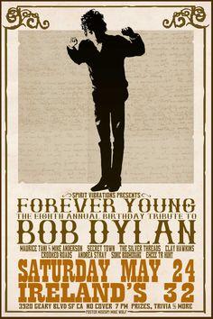Bob Dylan Concert Posters