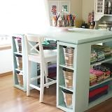 Craft Table... I need somehting like this!