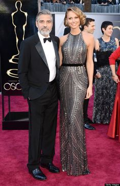 Of all the dresses last night, MY favorite was on Clooney's girl Stacy Keibler.
