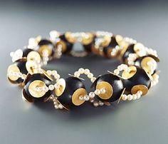 Ralph Bakker. Necklace: Untitled, 2005. Gold, silver, enamel & ni?llo.