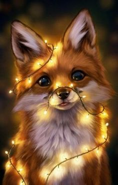 Baby Animals Pictures, Cute Animal Drawings, Cute Animal Pictures, Cute Drawings, Cute Fox Drawing, Baby Animals Super Cute, Cute Baby Dogs, Cute Little Animals, Baby Puppies