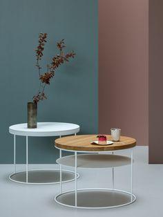AMSTERDAM Z PÓŁKĄ minimalistyczny stolik kawowy styl loftowy