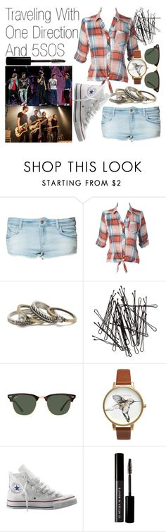 """""""Traveling With One Direction And 5SOS"""" by kassidyhoran ❤ liked on Polyvore featuring Zara, With Love From CA, H&M, Ray-Ban, Olivia Burton, Converse and Le Métier de Beauté"""