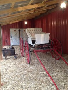This is our Buggy at Red Tin Barn www.redtinbarn.com  that we let Brides and Grooms use for photo props! Give us a call to schedule your tour 678-378-8484 Grooms, Photo Props, Schedule, Tin, This Is Us, Brides, Wedding Ideas, Rustic, Timeline