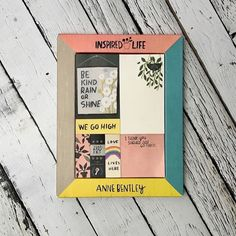 "Anne Bentley Inspired Life Desktop Sticky Notes Box from Galison features inspiring artwork and quotes, such as ""Be Kind Rain or Shine"", ""We Go High"", ""Love Liv Love Life, My Love, Sticky Notes, Inspirational Gifts, Inspired"
