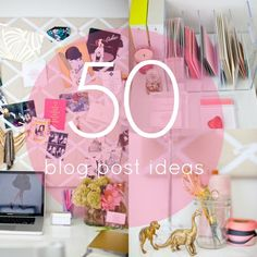 50 blog post ideas to help you when you get stuck from Love Hijab Girl.