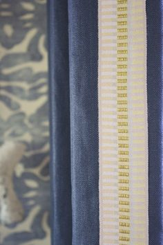 CLOTH & KIND Interiors, love the contrast of yellows against blue..