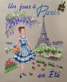Один день в Париже Летом/Un jour a Paris en Ete   J'aime la broderie française