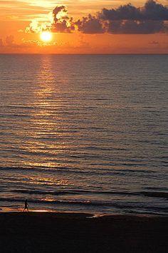 South Padre Island, TX at sunrise.