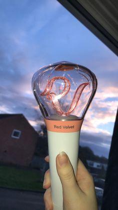 my red velvet lightstick aesthetic cr: kokopoppy Red Velvet Lightstick, Wendy Red Velvet, Rv Wallpaper, Ulzzang, Cute Room Ideas, Kpop Merch, Chinese, Kpop Aesthetic, Hunter Boots