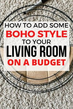 Get excited about your living room again with this easy boho wall decor idea you can make on a budget. This quick boho faux planter idea for your wall is perfect to decorate any space or bedroom in boho style. Faux Wood Wall, Faux Brick Walls, Boho Diy, Boho Decor, Galvanized Wall Planter, Shabby Chic Painting, Living Room On A Budget, Frugal Living, Diy Craft Projects