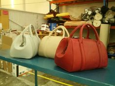 Brooklyn Bags leaving the factory in so many great colors! www.torregrossafashions.com