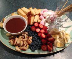 Chocolate Fondue is the perfect Valentine's Day dessert.