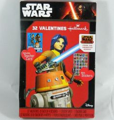 32 Count Star Wars Rebels Animated Series Valentines Day Cards W/ Stickers  #Hallmark