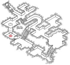 Isometric Dungeon #3 Dyson map cartography | Create your own roleplaying game material w/ RPG Bard: www.rpgbard.com | Writing inspiration for Dungeons and Dragons DND D&D Pathfinder PFRPG Warhammer 40k Star Wars Shadowrun Call of Cthulhu Lord of the Rings LoTR + d20 fantasy science fiction scifi horror design | Not Trusty Sword art: click artwork for source