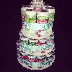 """Bachelorette """"cake"""" for sure! Maybe with bottles and mixer pop cans instead. Britt Bachelorette, Bachelorette Lingerie Party, Bachelorette Decorations, Bachelorette Party Planning, Bachlorette Party, Bridesmaid Duties, Craft Party, Wedding Events, Weddings"""