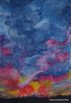 Dancing Sky by Fiona Concannon on ArtClick. Ireland, Dancing, Irish, Sky, Colorful, Dance, Heaven, Irish Language