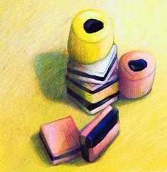 Orange cake without flour - HQ Recipes Sweet Wrappers, Pop Art Images, Blackberry Cake, Sweet Drawings, Liquorice Allsorts, Art Tutor, Food Artists, Art Folder, Food Painting