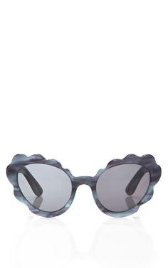 d769e04acd18f Flower Cat Eye Sunglasses in Blue Indigo Pearl Discount Sunglasses,  Sunglasses Sale, Cat Eye