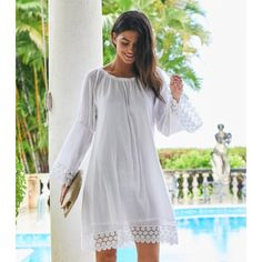 692027e468641 Aspiga Cabo Crinkle and Lace Dress White. £58. Aspiga s best selling soft  crinkle