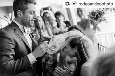 """One of my favorite shots from Brenne and Eli's #wedding (although I think I say that every time!). #Jewish wedding traditions always stir something inside me!  #Repost @rodeoandcophoto  """"Badeken: the ceremony where the groom veils the bride in a Jewish wedding. Just prior to the actual wedding ceremony which takes place under the chuppah the bridegroom accompanied by his parents the Rabbi and other dignitaries and amidst joyous singing of his friends covers the bride's face with a veil."""" One…"""