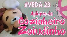 DIY - Aplique de cozinheiro Zoiudinho - Sah Passa o Passo #VEDA 23