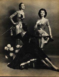 Jean Patchett, Dovima and Suzy Parker by Constantin Joffé 1955